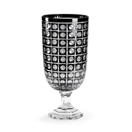 Wildwood Lighting Cut Glass Hurricane - Onix 301129 Etched Black Glass