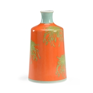 Wildwood Home Chrysanthemum Vase-Orange
