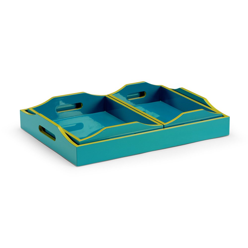 Wildwood Home Lexie Tray - Teal (S3) 301320 | Free Shipping