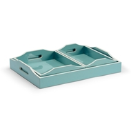 Wildwood Home Lexie Tray - Spa (S3) 301323 Wood Composite