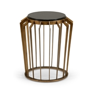 Wildwood Home Mason Side Table - Bronze