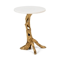 Wildwood Home Woody Side Table - Gold 490061 Aluminum