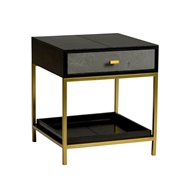 Wildwood Home Lawson Side Table 490086 Leather