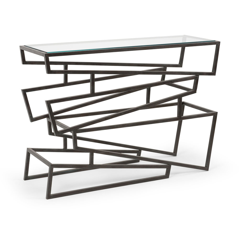 Wildwood Home Zigzag Console Table 490103 | Free Shipping