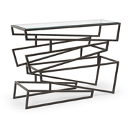 Wildwood Home Zigzag Console Table 490103 Iron