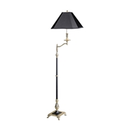 Wildwood Lighting 1926 Charlotte II 65010 Brass Swing Arm Floor
