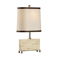 Wildwood Lighting Wall Of Bone Lamp 65320 Hand Inlaid Bone