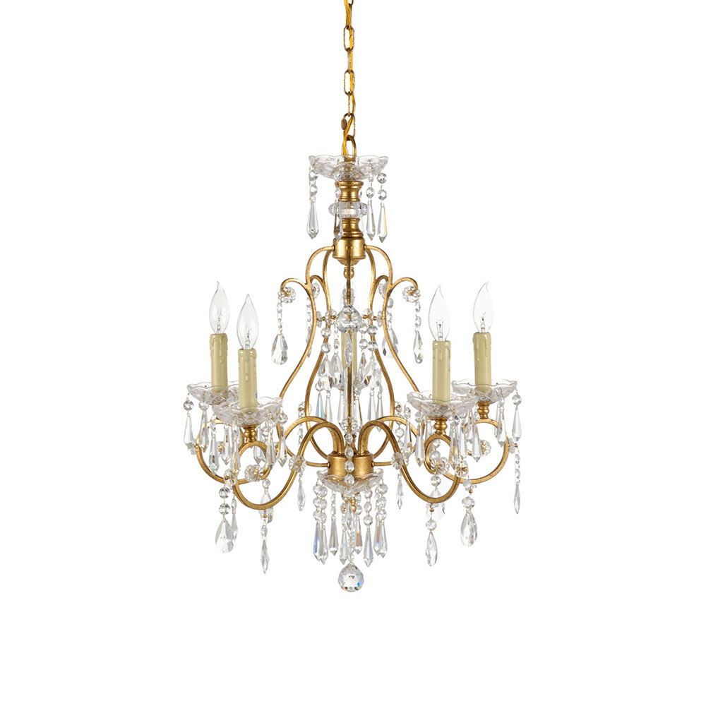 wildwood lighting gold and crystals chandelier 67021 free shipping