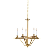 Wildwood Lighting Sousa Chandelier 67058 Solid Brass-Antique Patina