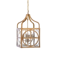 Wildwood Lighting Sherman Lantern -Brass 67102 Metal