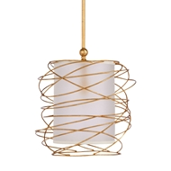Wildwood Lighting Cosmo Pendant - Gold 67118 Gold Leaf Finish - Iron Wire Wrap