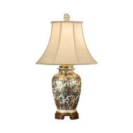 Wildwood Lighting Flowers And Gold Lamp