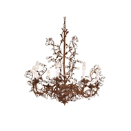 Wildwood Lighting Little Crystals Chandelier 7724 Iron And Brass With Lead Crystal