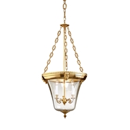 Wildwood Lighting Inverted Lantern 7731 Hand Finished Antique Brass