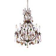 Wildwood Lighting Crystal Fruits Chandelier 7740 Hand Finished Bronze With Muraon Glass