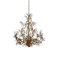 Wildwood Lighting Crystal Buds Chandelier 7750 Rust Patina On Iron-Hand Applied