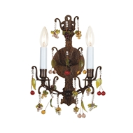 Wildwood Lighting Sconce With Crystals 7789 Hand Finished Brass