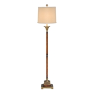 Wildwood Lighting Fluted Wood Floor Lamp 9119 Wood