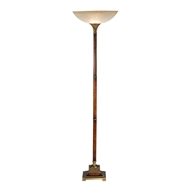 Wildwood Lighting Torchiere Of Wood 9120 Wood