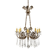 Wildwood Lighting Chandelier 9360 Crystal Drops And Prisms