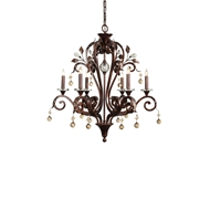 Wildwood Lighting Marron Chandelier 9362 Antique Finish Iron With Crystal