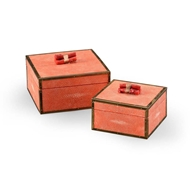 Wildwood Home Coral Boxes - Coral (Pr) 300888