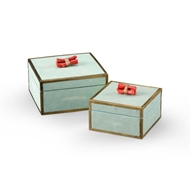Wildwood Home Coral Boxes (Pr) - Sea Mist