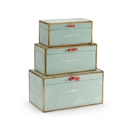 Wildwood Home Cousteau Boxes - Sea Mist