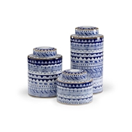 Wildwood Home Blue And White Canisters