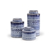Wildwood Home Blue And White Canisters 301070