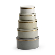 Wildwood Home Oval Boxes - Grays (S5)