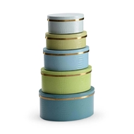 Wildwood Home Oval Boxes - Blue/Green 301078