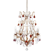 Wildwood lighting French Gold & Crystal Chandel 396