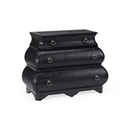Wildwood Home Bianca Bombe Chest - Black 490120