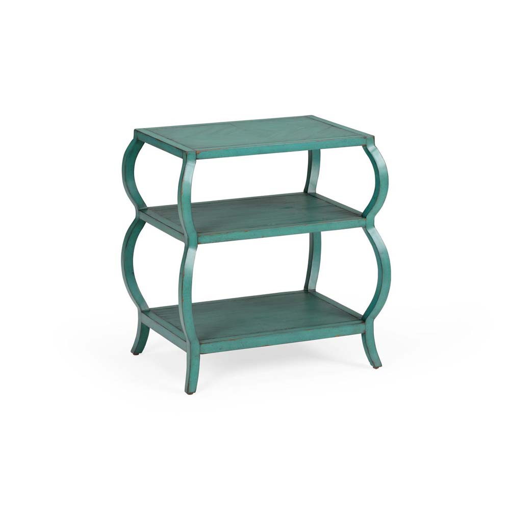 Wildwood Home Kate Tiered Table   Teal