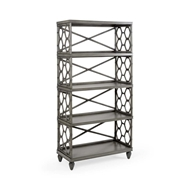 Wildwood home Accessoreook Beehive Bookcase - Gray