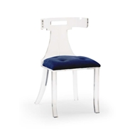 Wildwood Home Elsa Chair - Blue Velvet 490169