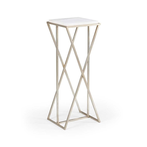 Wildwood Home Malcolm Pedestal - Silver 490207