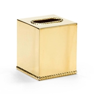 Wildwood Home Brass Tissue Box Cover