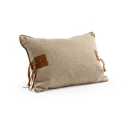 Wildwood Buckaroo Pillow 301536 Linen/Leather