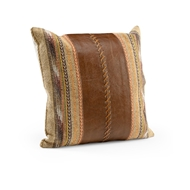 Wildwood Cheyenne Pillow - Large 301538 Tapestry/Leather