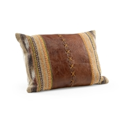 Wildwood Cheyenne Pillow - Small 301537 Tapestry/Leather