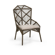 Wildwood Home Arden Side Chair 490228 Rattan/Fabric
