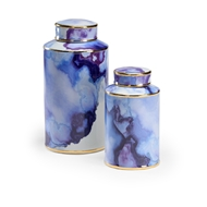 Wildwood Home Azul Pool Canister - Set of 2 301659 Ceramic