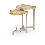 Wildwood Home Bedrock Nested Tables - Set of 2 490306 Petrified Wood