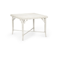 Wildwood Home Boca Game Table - White 490277 Rattan/Crushed Bamboo