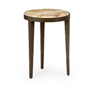 Wildwood Home Flint Stone Table 490304 Petrified Wood