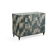 Wildwood Home Florence Chest - Black 490312 Abaca/Glass/Iron