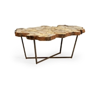 Wildwood Home Fossil Cocktail Table 490296 Petrified Wood