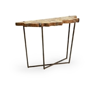 Wildwood Home Fossil Console 490297 Petrified Wood